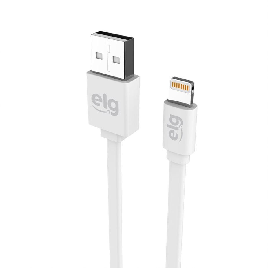Cabo USB Lightning 125 Metros Branco - EC810 - ELG