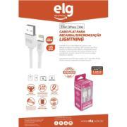 Cabo USB Lightning 1,25 Metros Branco - EC810 - ELG
