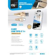 Cabo USB Tipo C 1 Metro Branco - ALCWH - ELG