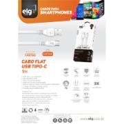 Cabo USB Tipo C 1 Metro Prata - ELMC10WH - ELG