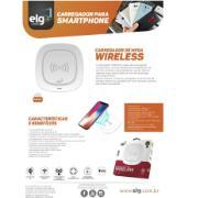 Carregador Wireless de Mesa 5V 2A Branco - ELG