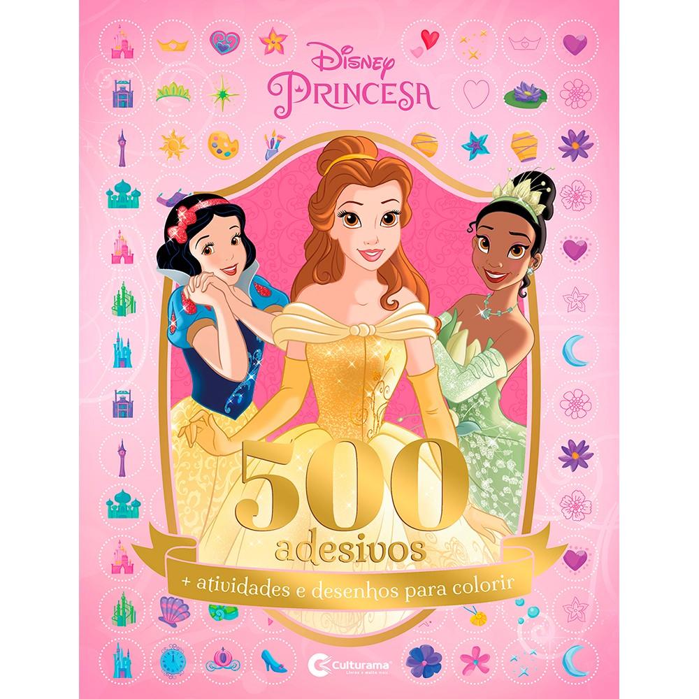 Livro Disney Princesas para colorir com 500 Adesivos 44 Paginas - Culturama