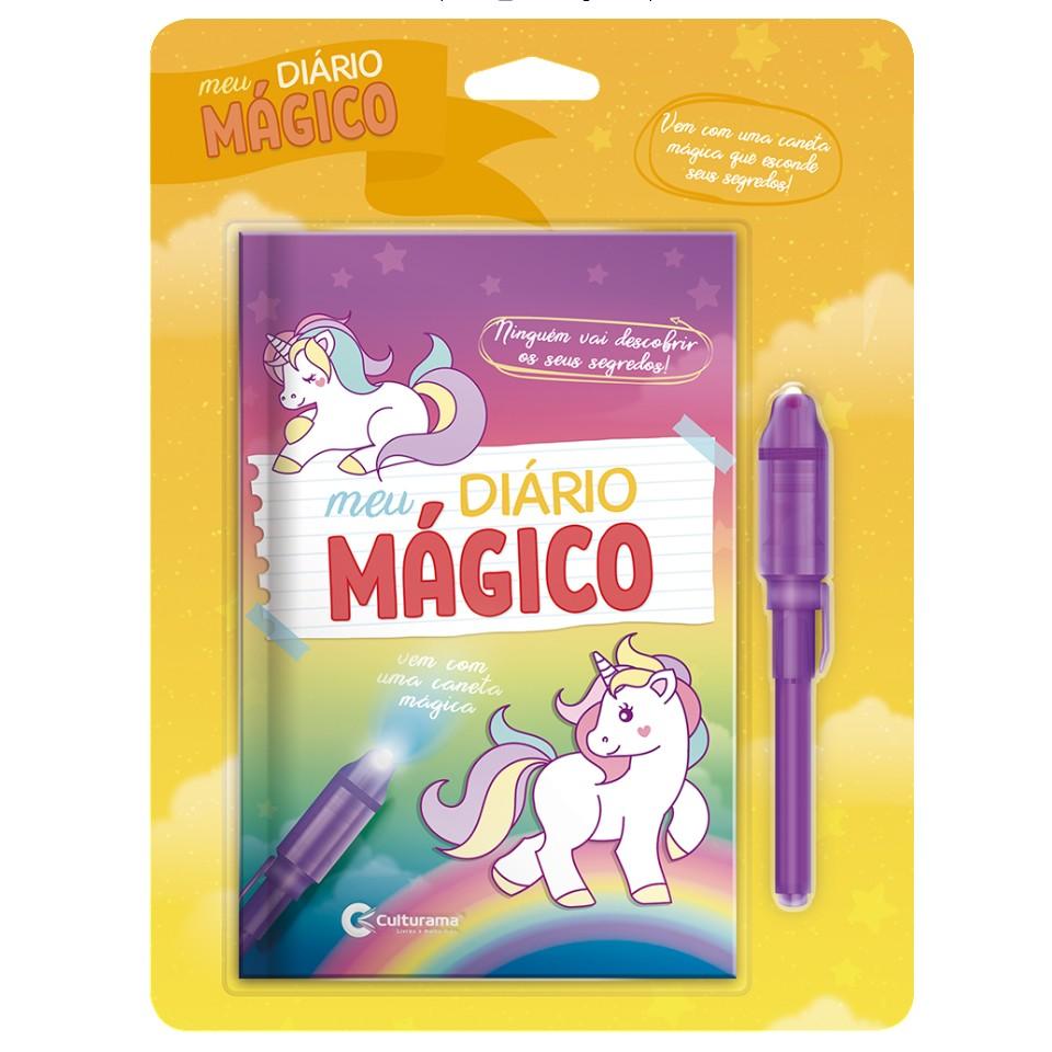 Livro Meu Diario Magico com Caneta e Unicornios - Culturama