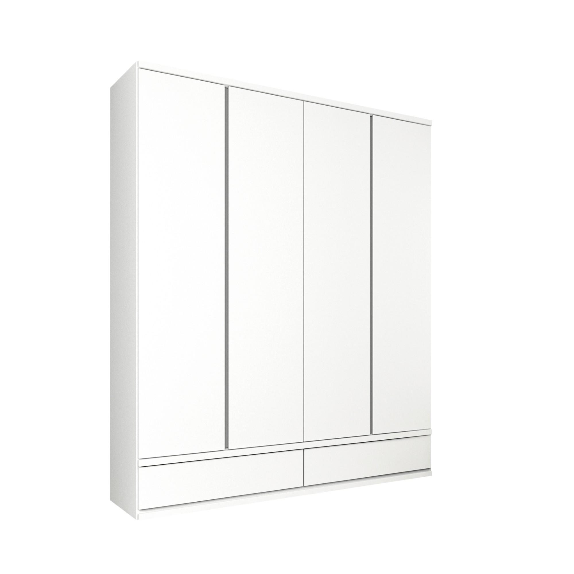 Guarda-Roupa Casal 4 Portas Stillus Branco Neve - Tcil
