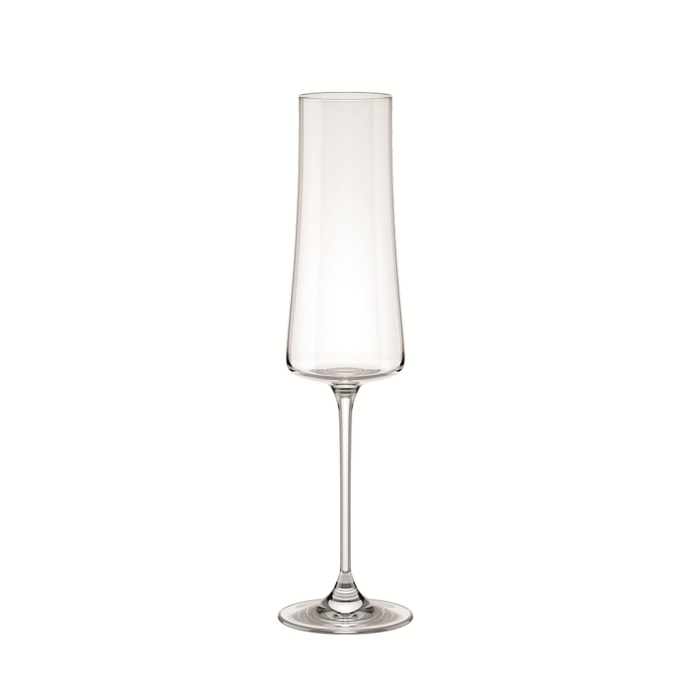 Taca de Espumante de Cristal 210ml Transparente Pleasure - Brinox Haus
