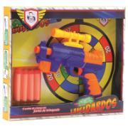 Brinquedo Lança Dardos Super Gun Colorido - Pica Pau