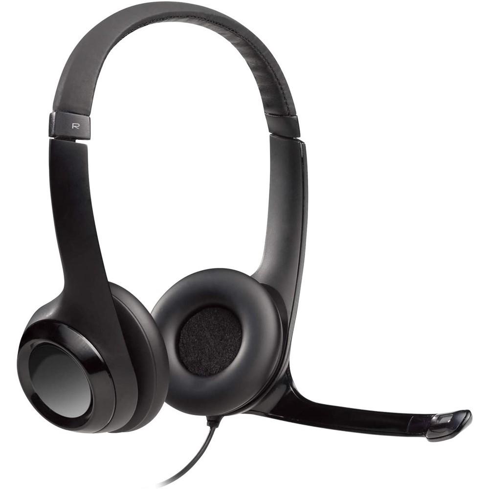Fone de Ouvido Logitech com Microfone USB - 46329-9 - Preto
