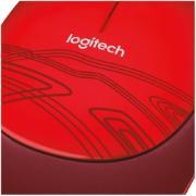Mouse Logitech USB Óptico com Fio M105 - Vermelho