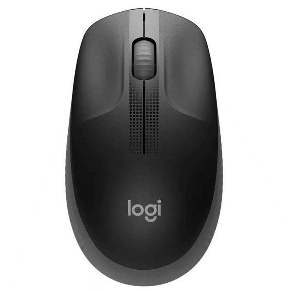 Mouse Logitech USB Optico sem Fio M190 - Preto e Cinza