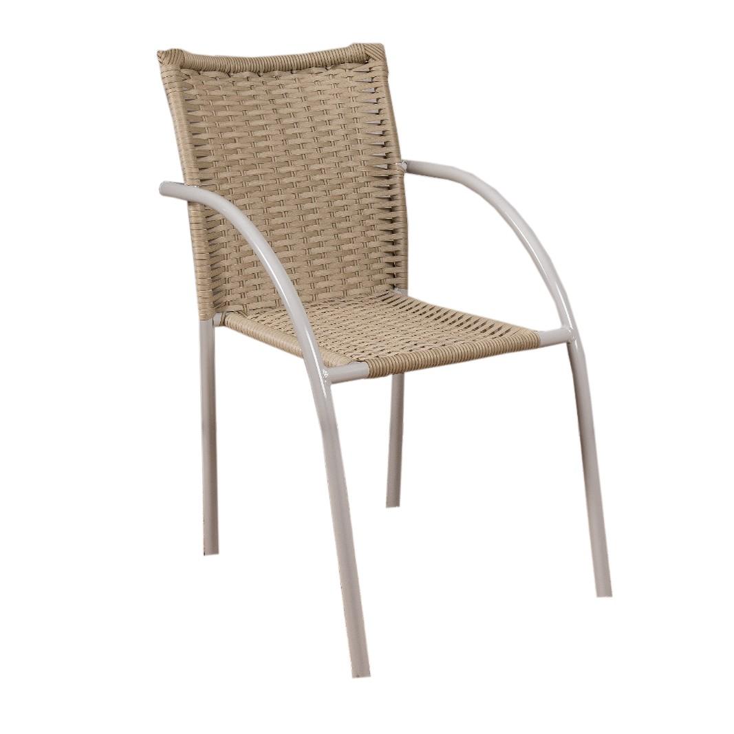 Cadeira de Aluminio com Fibra Castanho - Alegro