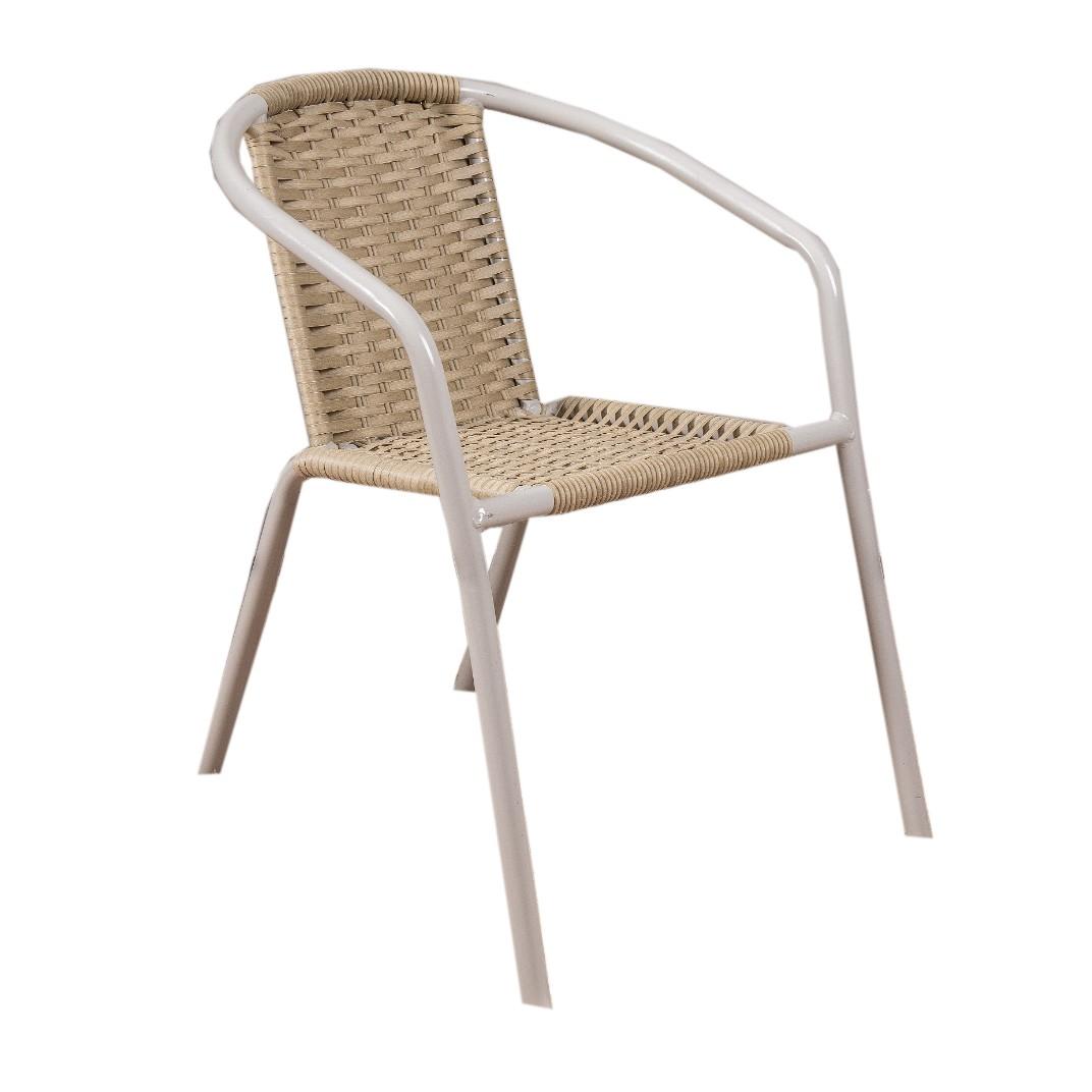 Cadeira de Aluminio e Fibra Off White - Alegro