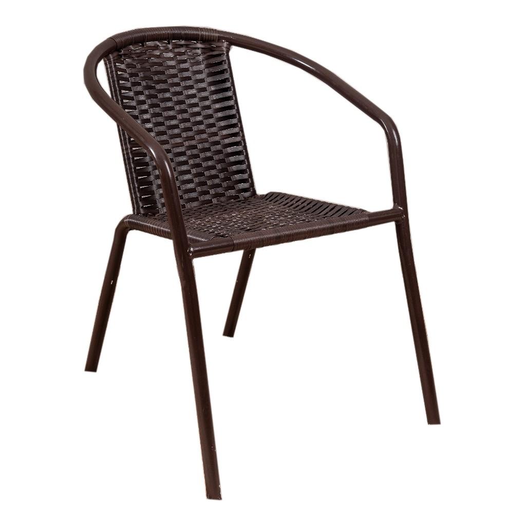 Cadeira de Aluminio com Junco Marrom - Alegro