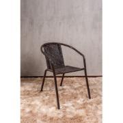 Cadeira de Alumínio com Junco Marrom - Alegro