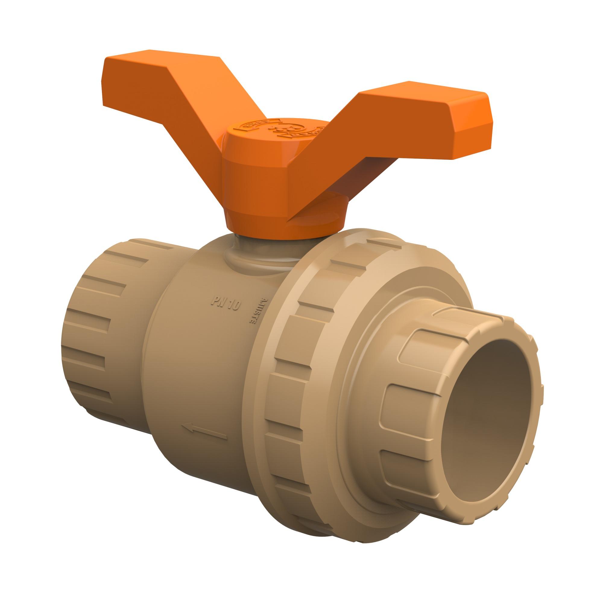 Registro Esfera Soldavel PVC Simples 50mm 27958087 - Tigre