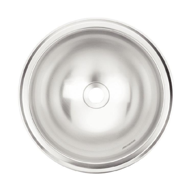 Cuba Simples para Lavabo de Sobrepor de Aco Inox Alto Brilho 24cm x 24cm Prata - 94101207 - Lavabo Tramontina Pia