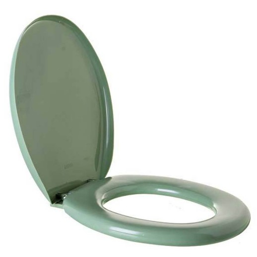 Assento Sanitario Oval Almofadado TPKAS Verde 3 - Astra