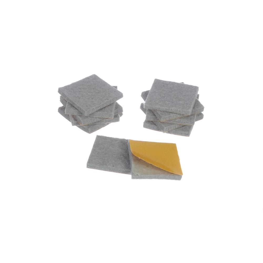Protetor anti-risco de Feltro Adesivo Quadrado Cinza 30x30x3 mm - Engedom