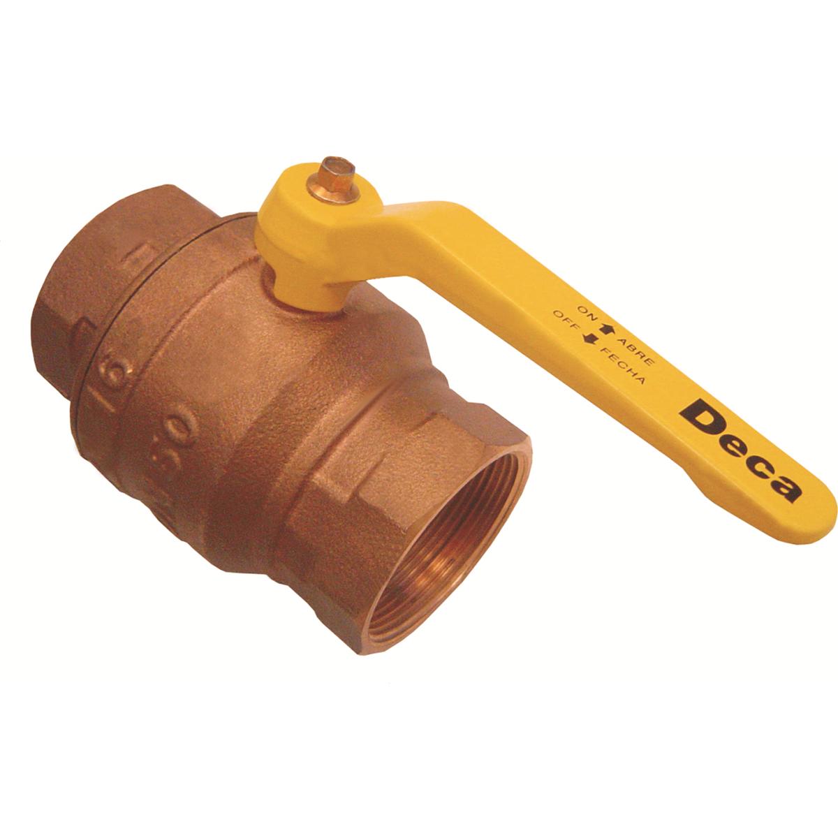 Registro Esfera Roscavel Liga de cobre Alavanca 20mm 34 - Deca