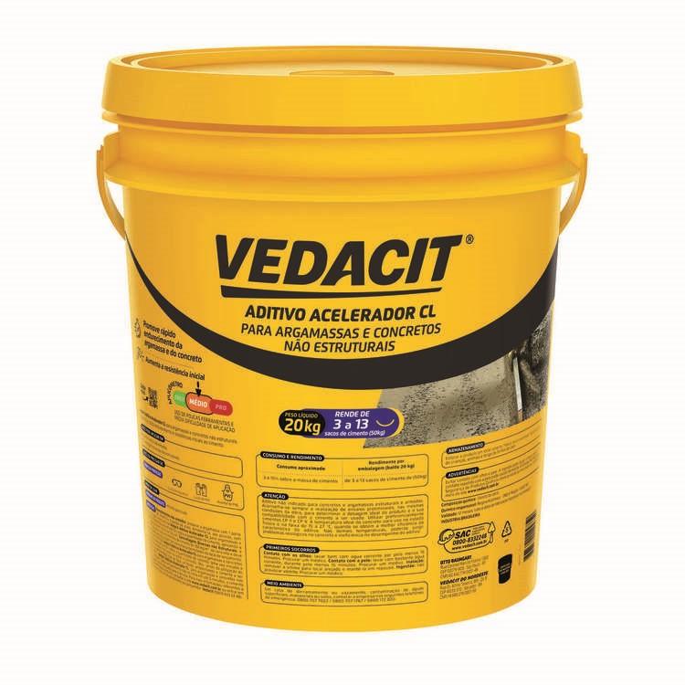 Acelerador de Pega Vedacit Rapido CL 20kg - Vedacit