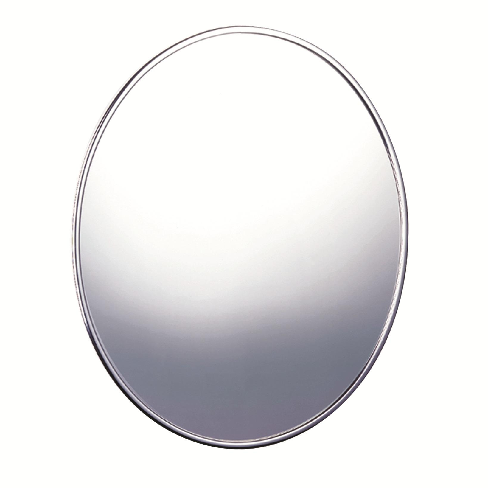 Espelho Para Parede Oval 4mm 575x485 Cm com Moldura - Cris Metal