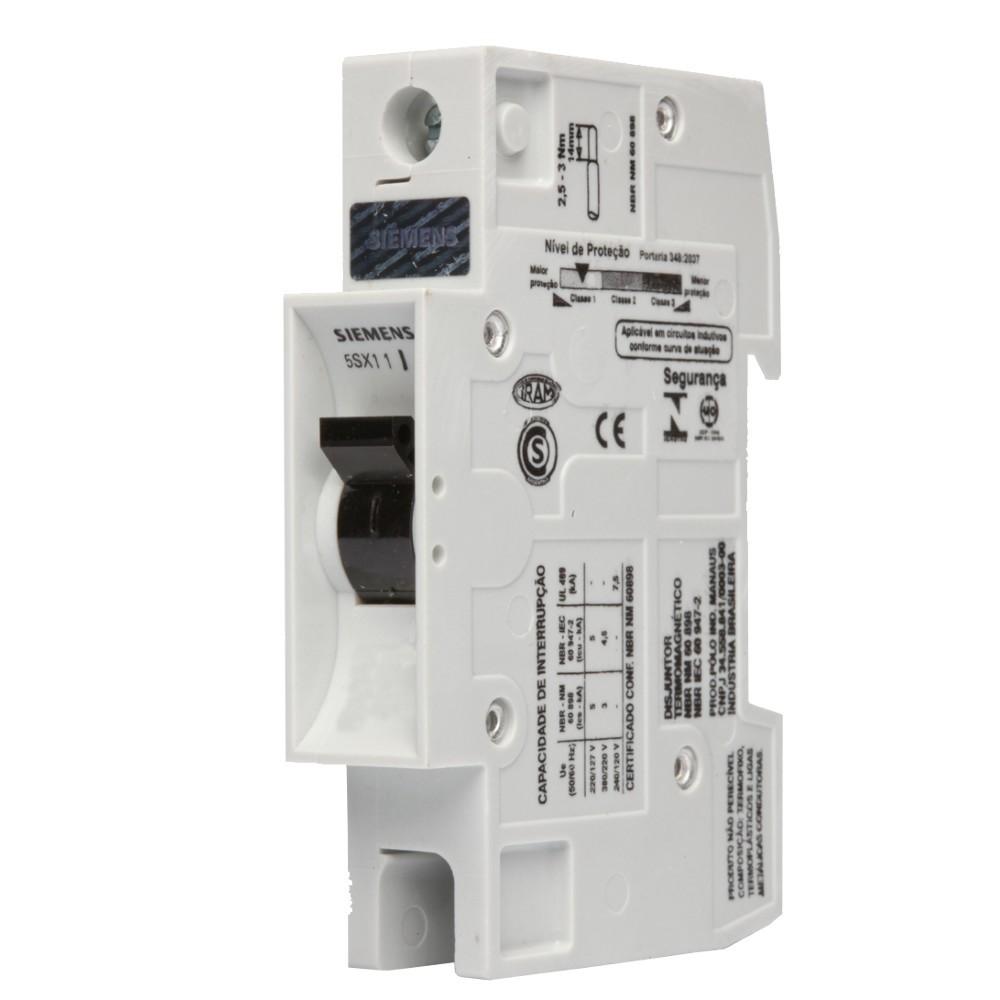 Disjuntor Unipolar B Din 5 Sx1 132-6 32A - Siemens