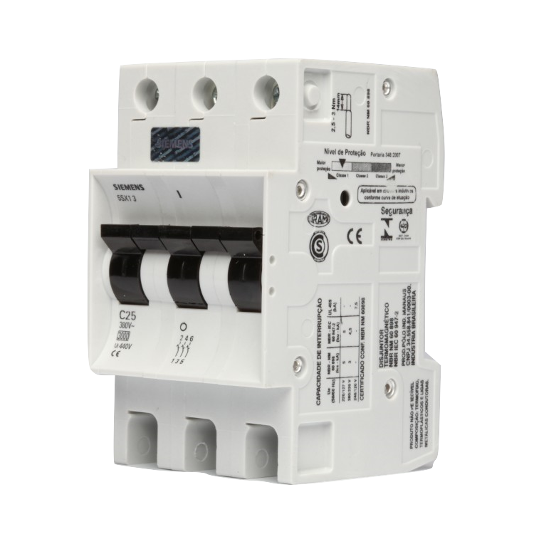 Disjuntor Tripolar C Din 10A 5 Sx1 310-7 - Siemens