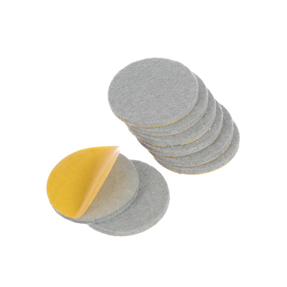 Protetor anti-risco de Feltro Adesivo Redondo Cinza 37x3 mm - Engedom