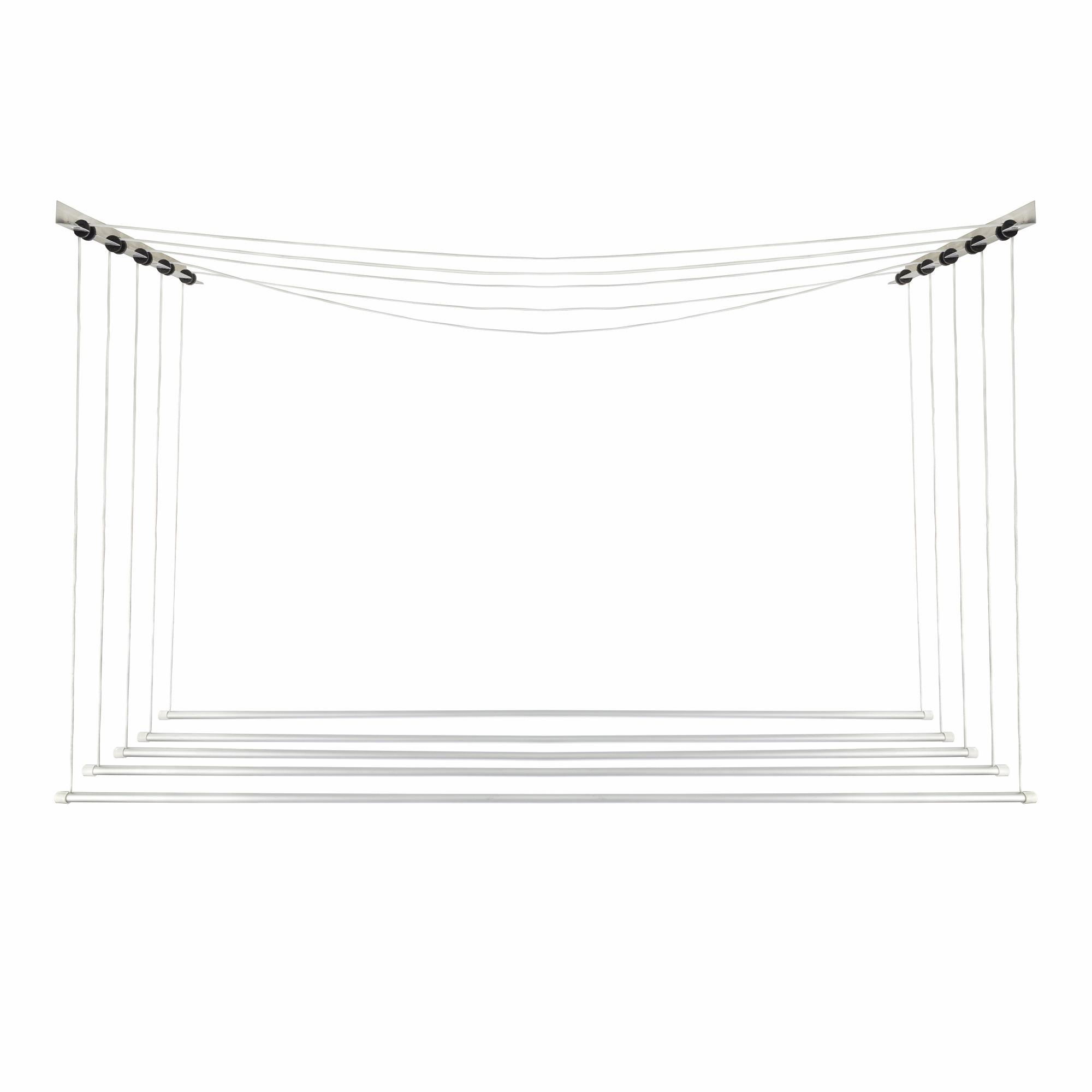 Varal de Teto Individual Aluminio 56X120cm VI2 - SoVarais