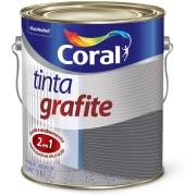 Tinta Óleo Fosco Premium 3,6L - Cinza Escuro - Coral