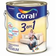 Tinta Acrílica Fosco Premium 3,6L - Branco Gelo - 3 Em 1 Coral
