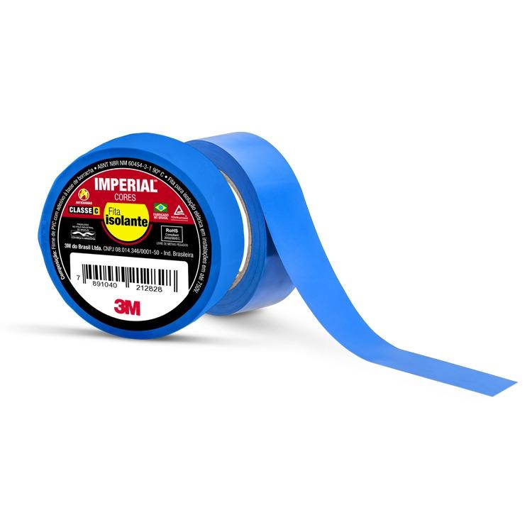 Fita Isolante Imperial Azul 18 mm x 10 m - 3M