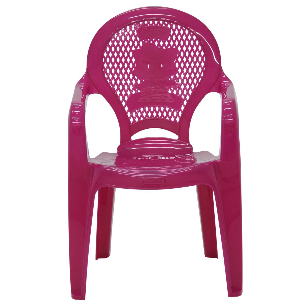 Poltrona Infantil de Plastico Estampada Rosa 92264060 - Tramontina