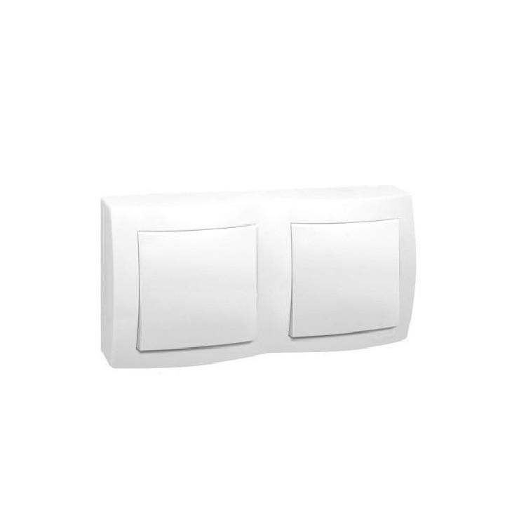 Conjunto Interruptor Simples 2 Modulos 10A - Branco - Sistema X - Legrand
