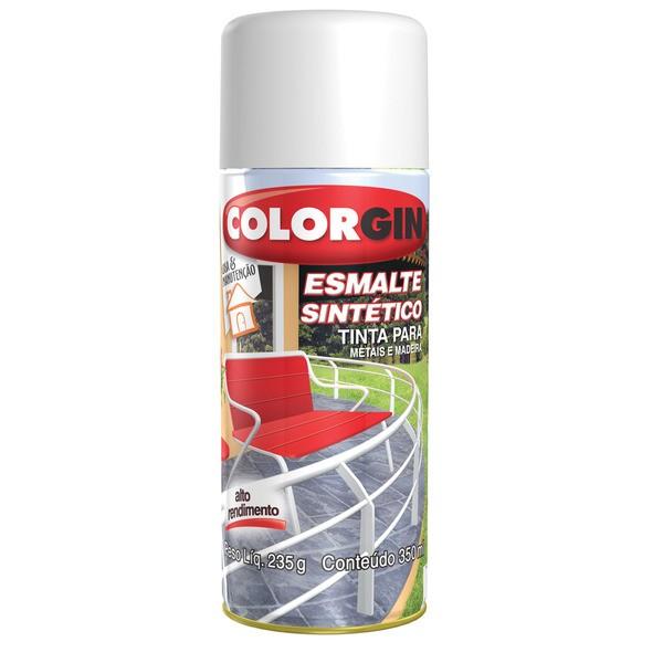 Tinta Spray Fosco Esmalte sintetico Interno e Externo - Branco - 350ml - Colorgin