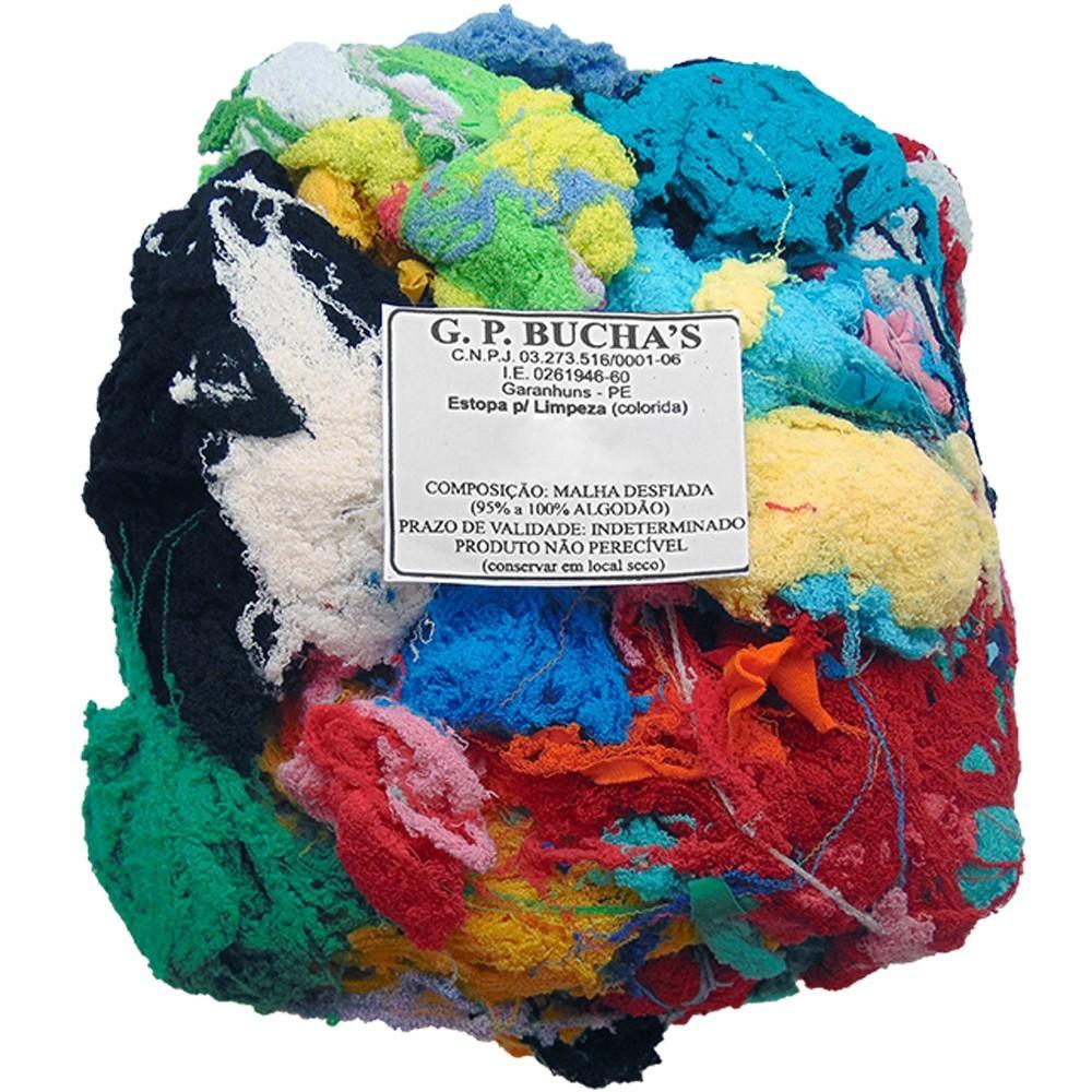 Estopa Limpeza Colorida Preta 500g - GP