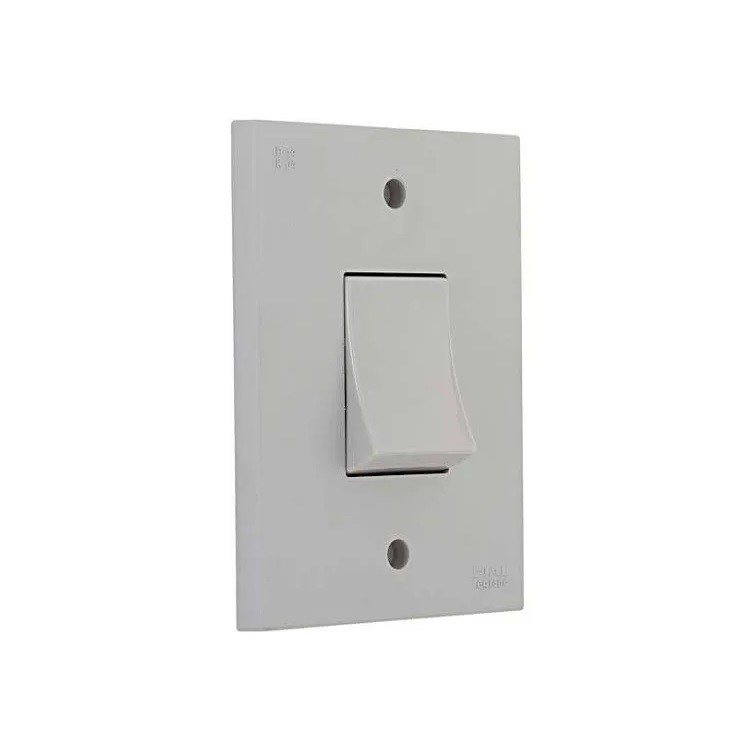 Conjunto Interruptor Simples 1 Modulo 10A - Cinza - Aquatic - Legrand