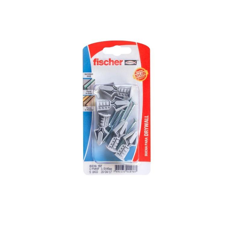 Bucha e Parafuso Drywall CJ05 Pecas HDF 1578 - Fischer