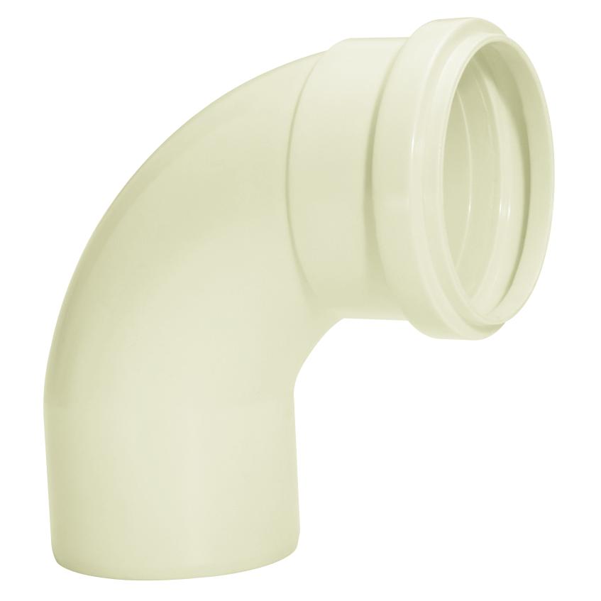 Curva Curto 90 para Esgoto PVC Branco 75 mm - Amanco