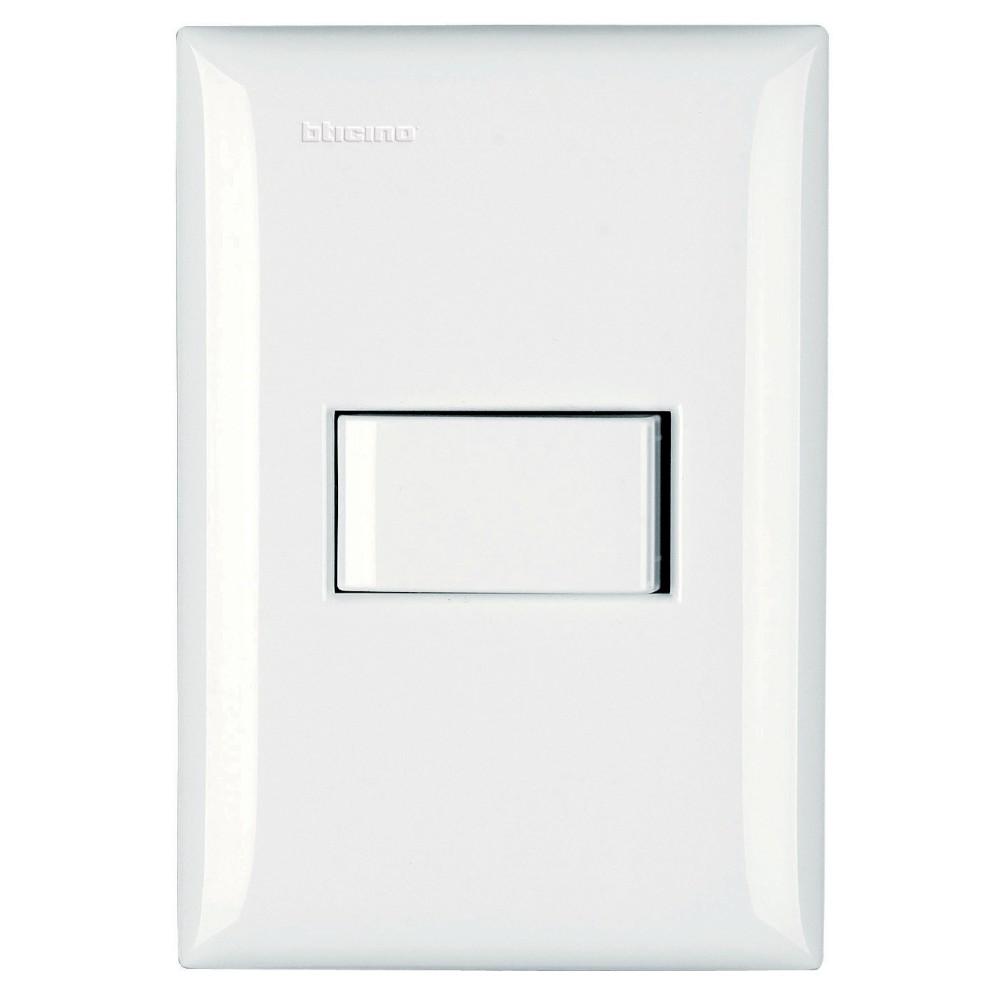 Conjunto Interruptor Simples 1 Modulo 10A - Branco - Thesi - Bticino