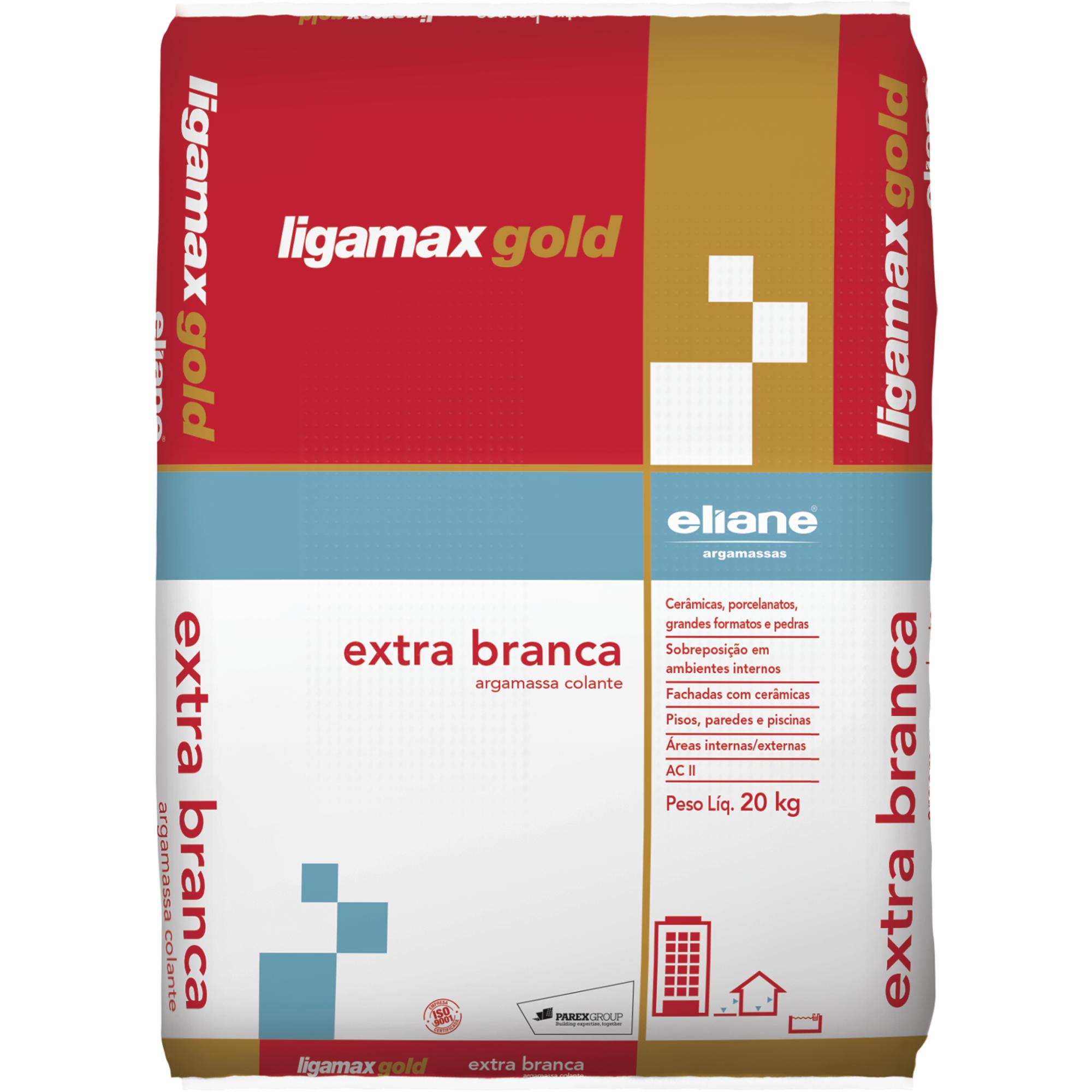 Argamassa ACII Ligamax Externo Branco Saco20kg - Eliane