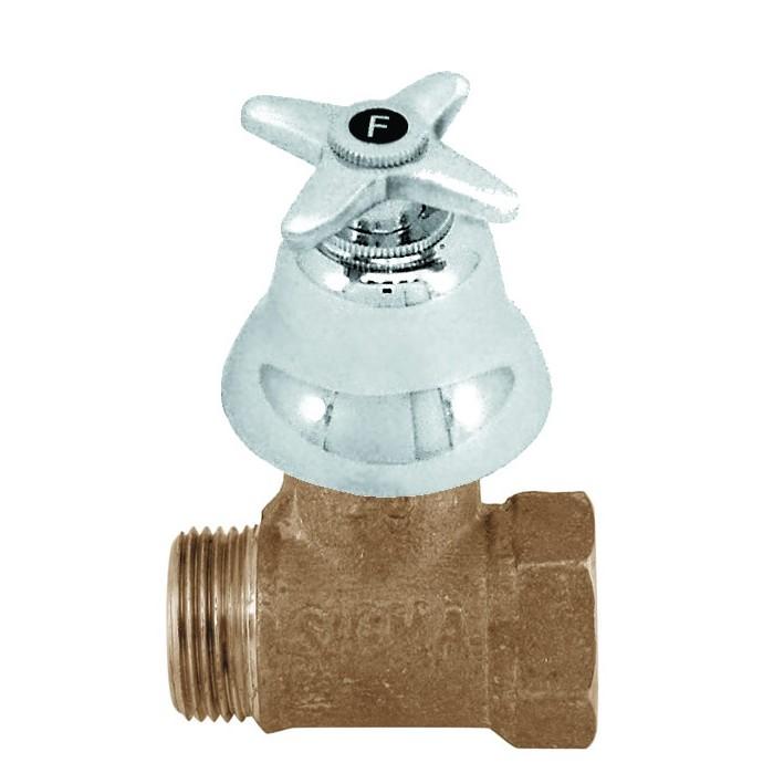 Registro de Pressao Liga de cobre para Chuveiro Cromado C23 Cruzeta 1905mm 34 - Sigma