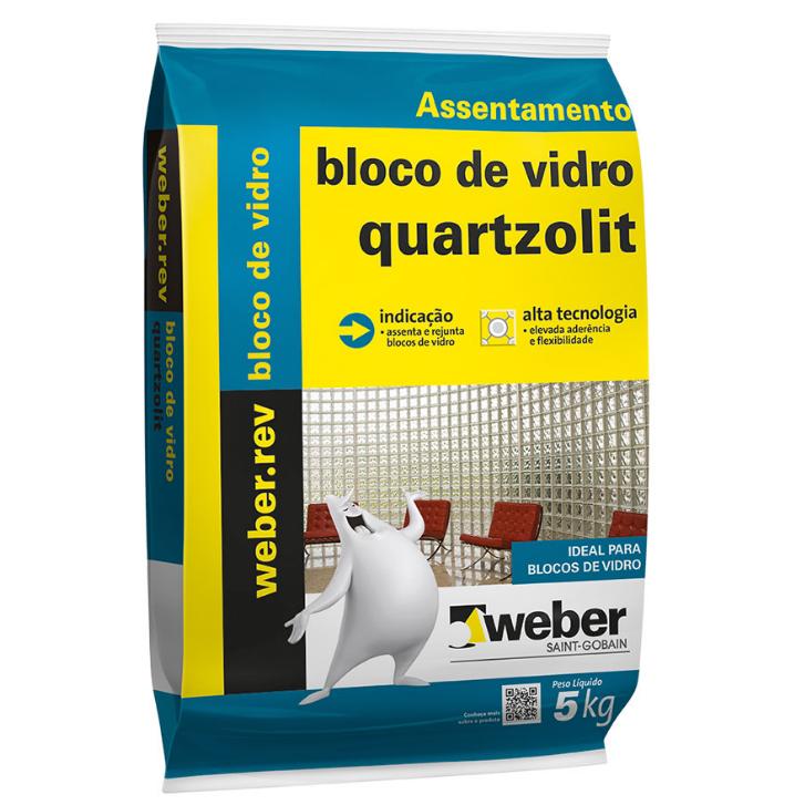 Argamassa Bloco Vidro 5kg - Quartzolit