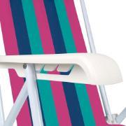 Cadeira de Praia Aço Reclinável 4 Posições 2004 - Mor