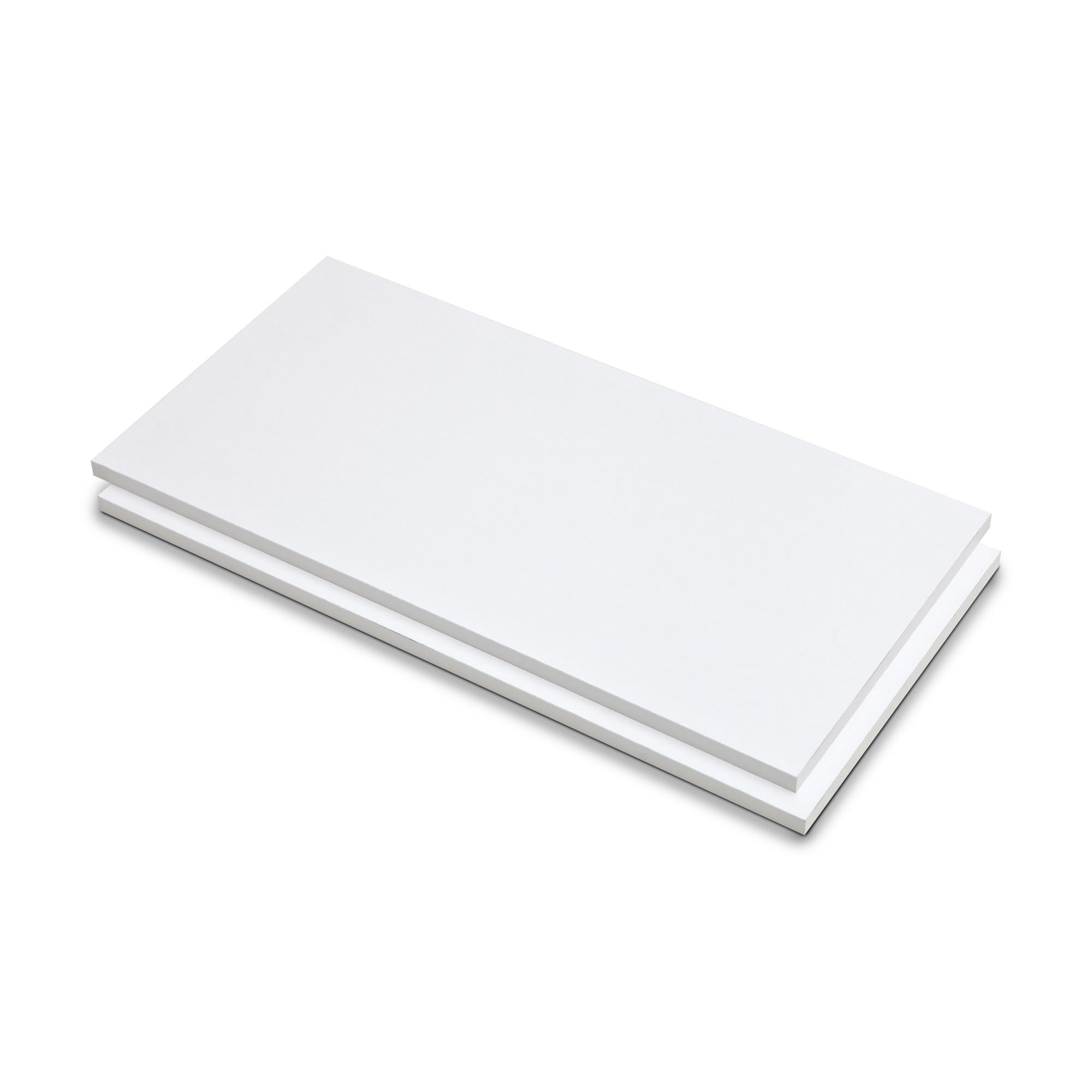 Prateleira de Madeira 25cm x 60cm Branco 605625 - Fico