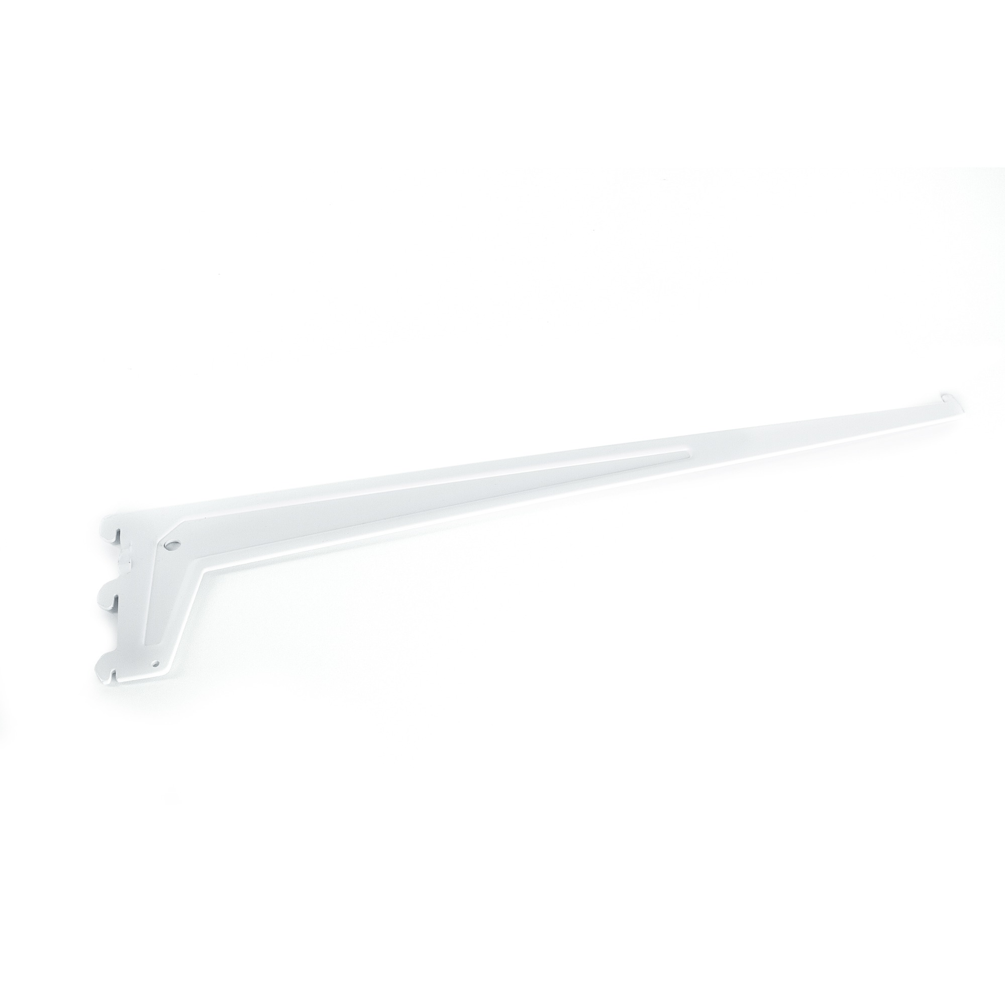 Suporte para Trilho Meia-Cana 50 cm Branco - Fico