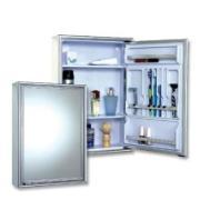 Armário Para Banheiro Retangular Poliestireno Moldado 58,5 x 44,0 com Luminária 105 - Cris Metal