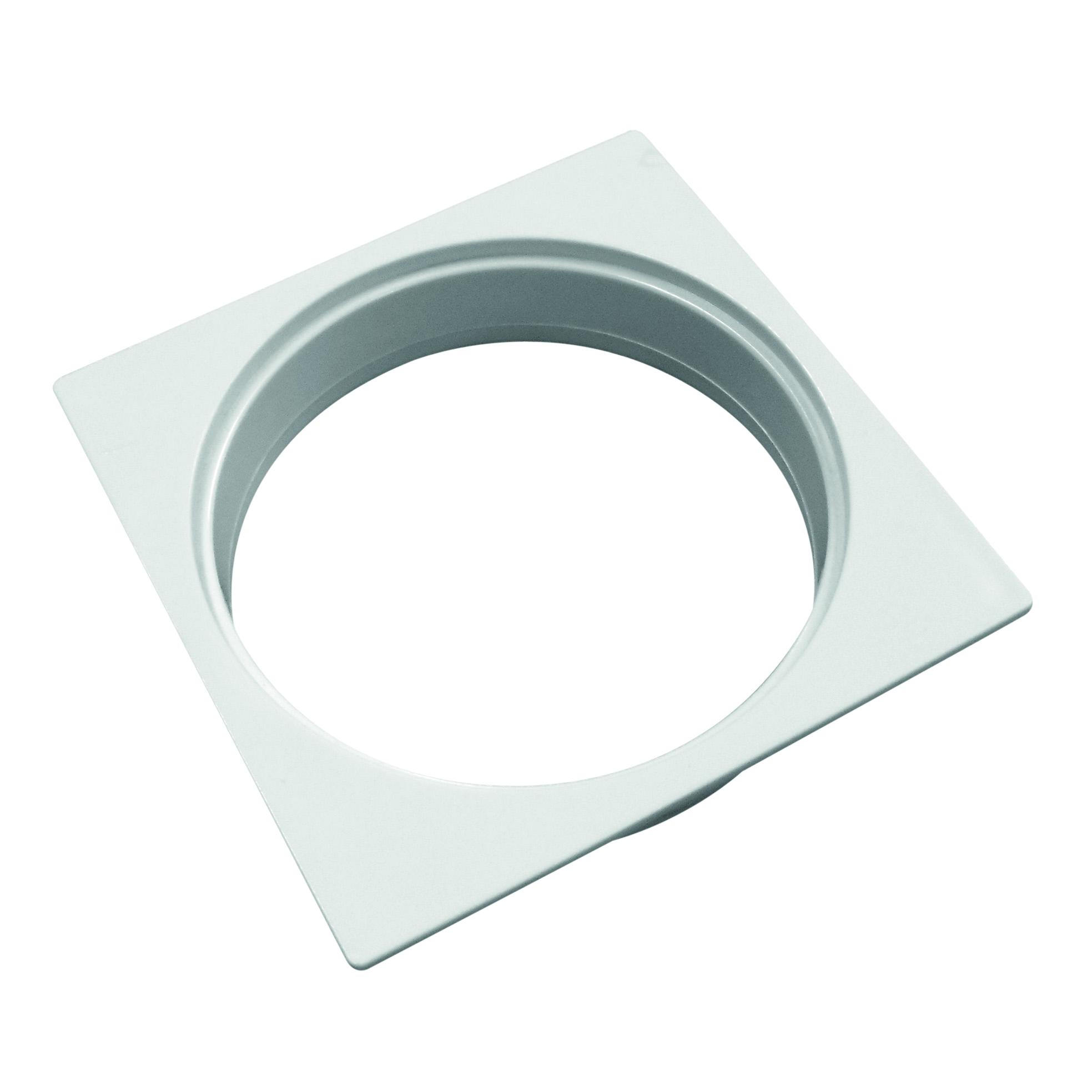 Porta-Grelha Caixa Sifonada 100 mm Quadrada Branca 11766 - Amanco