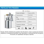 Pistola Pneumática para Pintura  Ar Direto 850 ml - Arpex