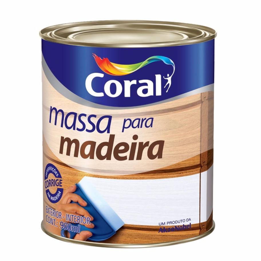 Massa Para Madeira - Branco Neve - Quarto 09L 1500Kg - Coral