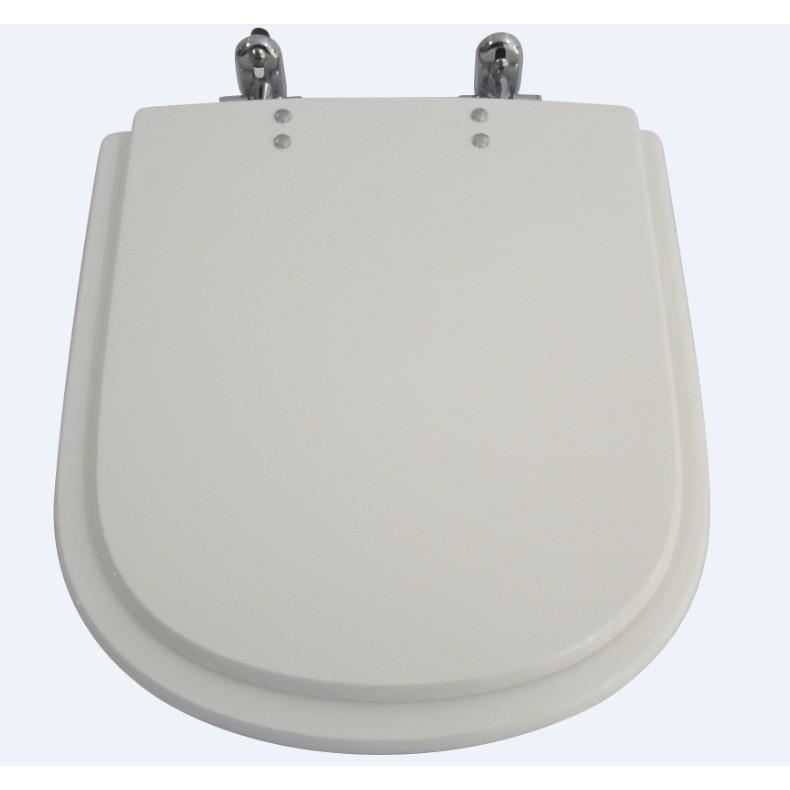 Assento Sanitario Quadrado Polietileno Vogue Plus Branco Gelo - Policlass